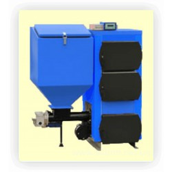 Ukrtermo 200А 38 кВт твердотопливный котел с бункером