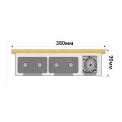 Внутрипольный конвектор FanCOIL FCF 09 plus 1250