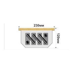 Внутрипольный конвектор FanCOIL FC 12 +3 1250