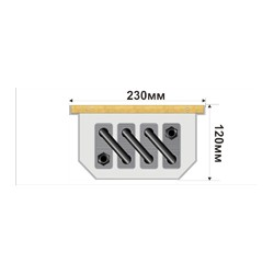 Внутрипольный конвектор FanCOIL FC 12 +3 1500